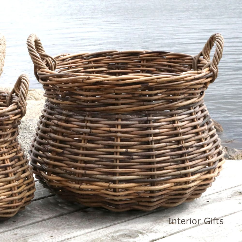 Old French Basket with Handles