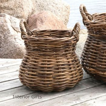 Old French Basket with Handles - small