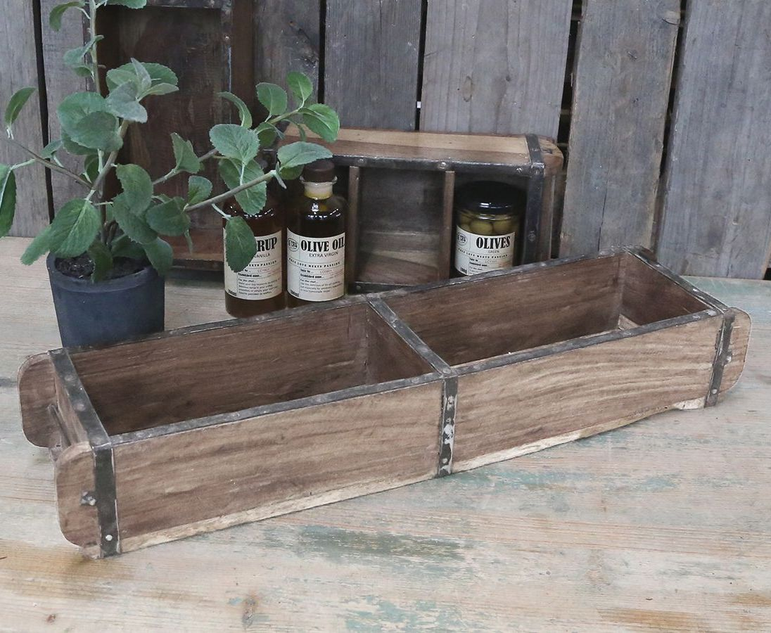 Vintage Wooden Double Brick Mould