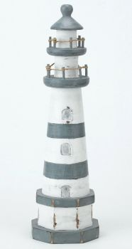 Archipelago Wooden Lighthouse Blue and White - Medium