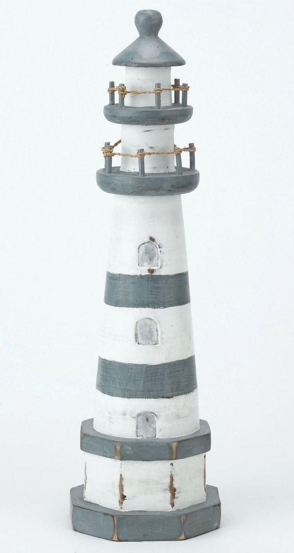 Archipelago Wooden Lighthouse Blue and White - Medium