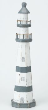 Archipelago Wooden Lighthouse Blue and White - Large