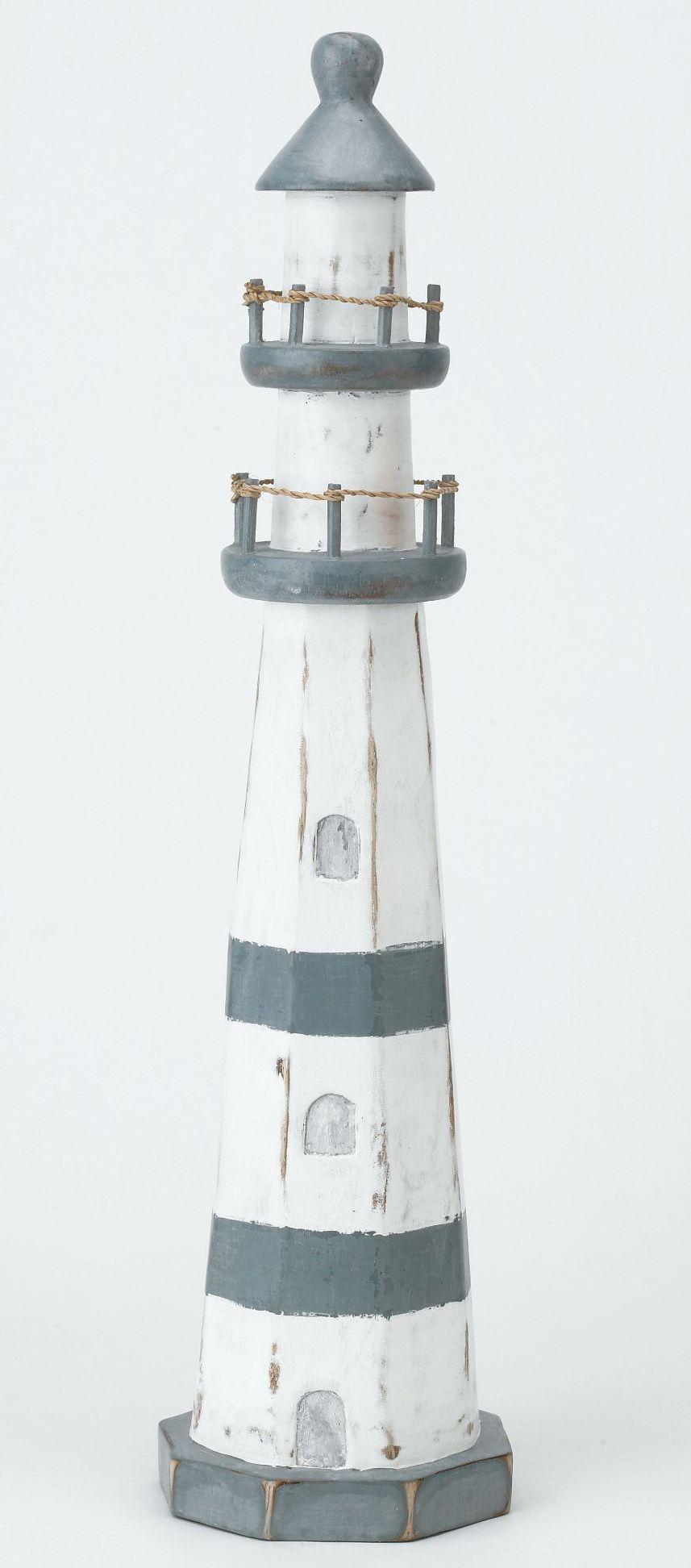 Archipelago Wooden Lighthouse Blue and White - Large