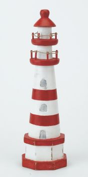 Archipelago Wooden Lighthouse Red and White - Medium