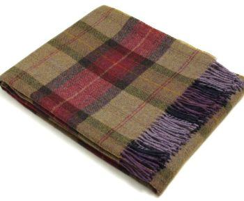BRONTE by Moon Skye Check Country Throw in Shetland Wool