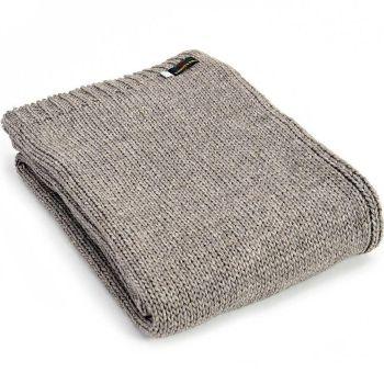 Tweedmill Knitted Soft Alpaca Mix Throw in Grey