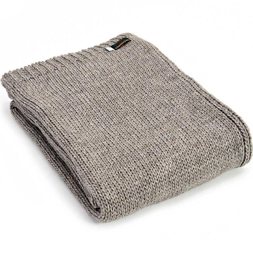 Tweedmill Knitted Soft Alpaca Mix Throw in Grey