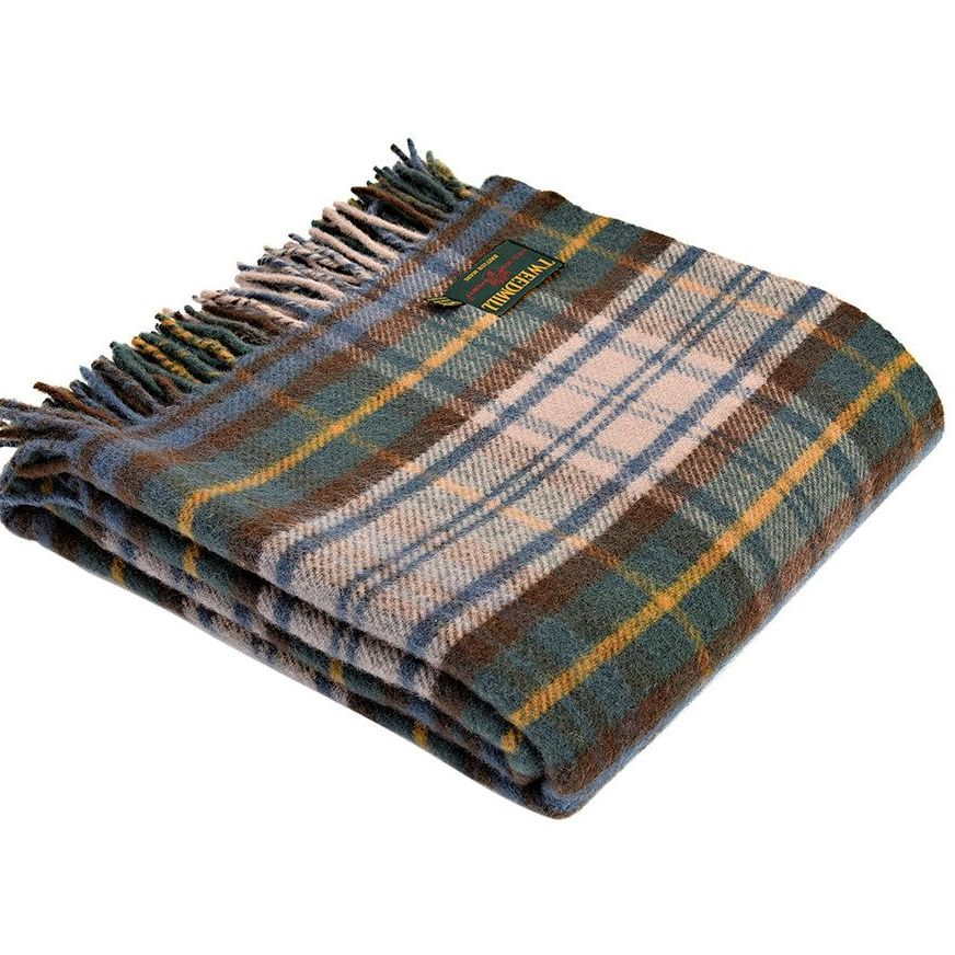 Tweedmill Tartan Antique Dress Gordon Knee Rug or Small Blanket Pure New Wo