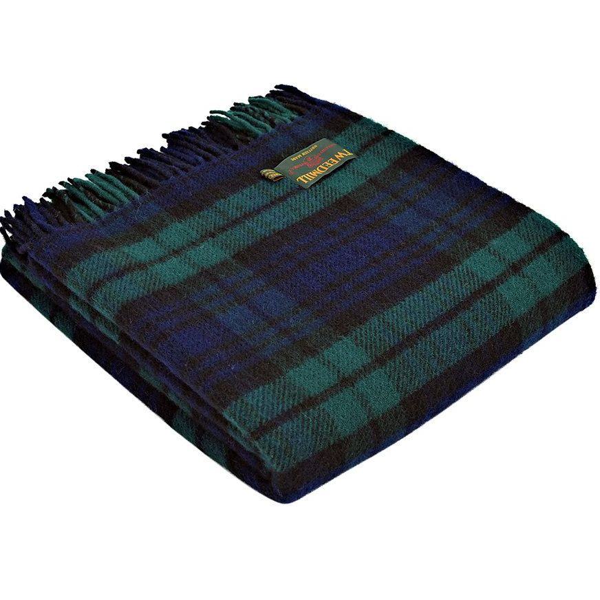 Tweedmill Tartan Blackwatch Knee Rug or Small Blanket Pure New Wool