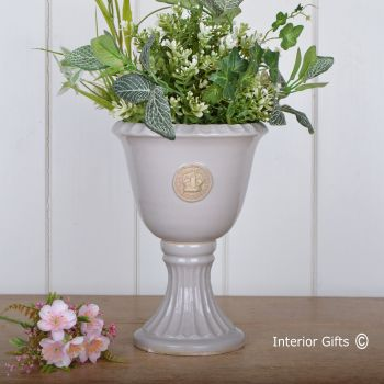Kew Footed Urn in Almond - Royal Botanic Gardens Plant Pot - Small