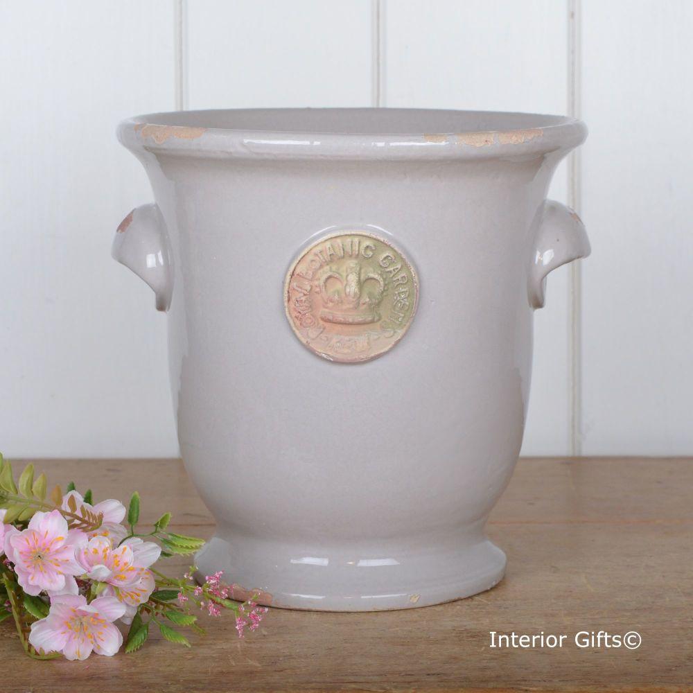 Kew Cachepot with Handles Almond - Royal Botanic Gardens Plant Pot - Large