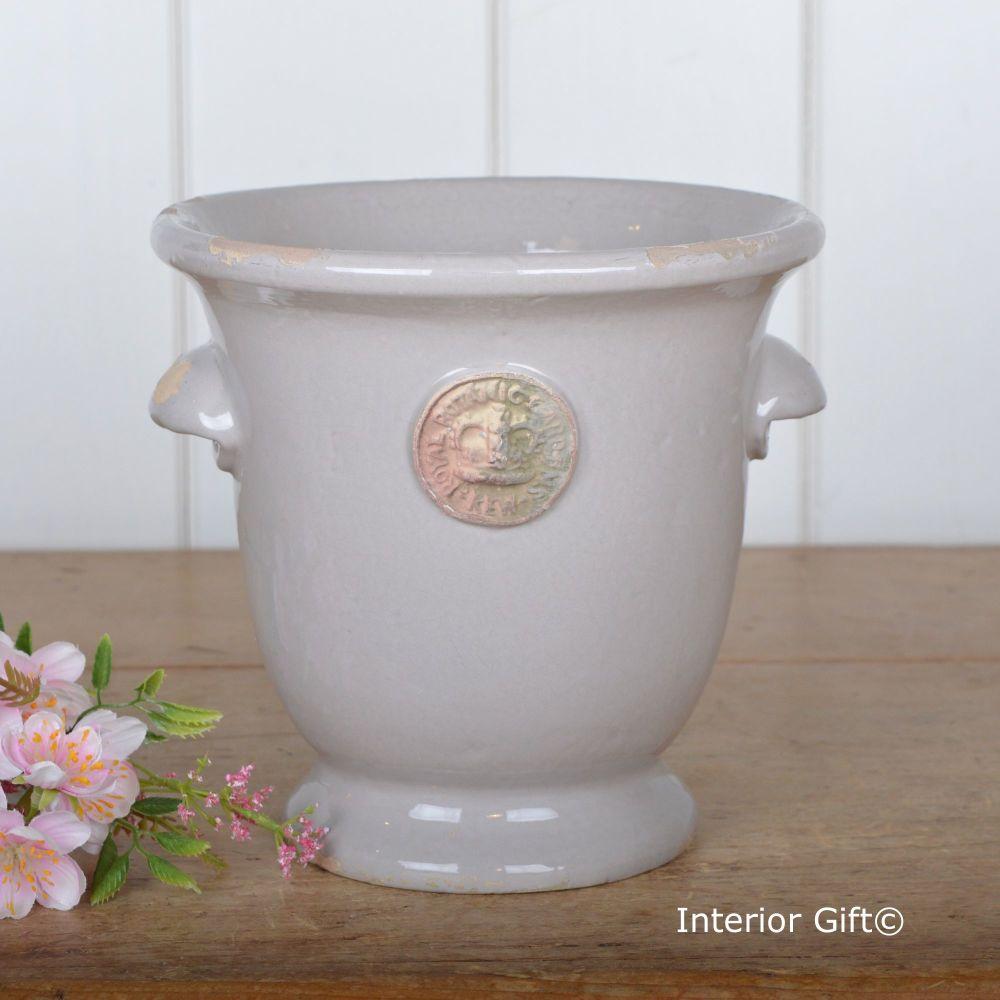 Kew Cachepot with Handles Almond - Royal Botanic Gardens Plant Pot - Small