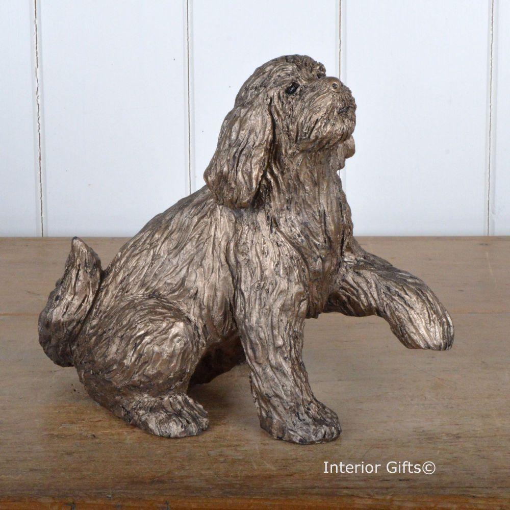MILO LABRADOODLE 'Shake Hands' Frith Bronze Sculpture by Thomas Meadows