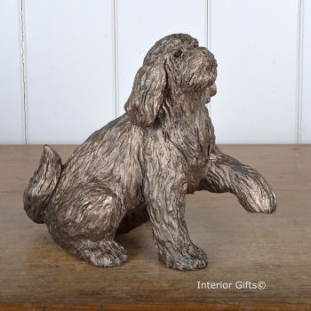 MILO LABRADOODLE 'Shake Hands' Frith Bronze Sculpture by Thomas Meadows