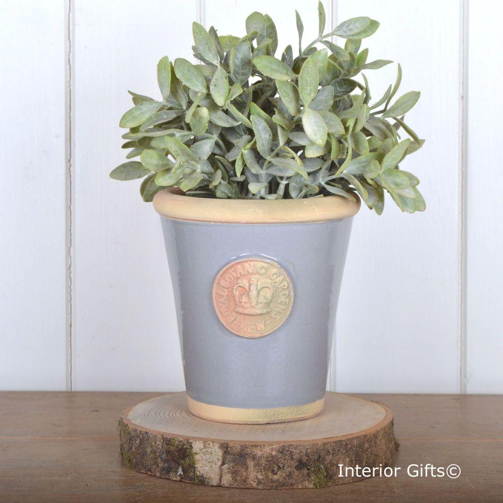 Kew Long Tom Pot Plummet Blue/Grey - Royal Botanic Gardens Plant Pot - Smal