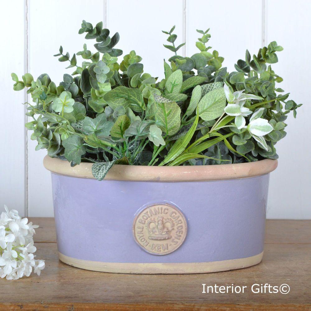 Kew Oval Planter in Brassica Purple - Royal Botanic Gardens Plant Pot - Sma