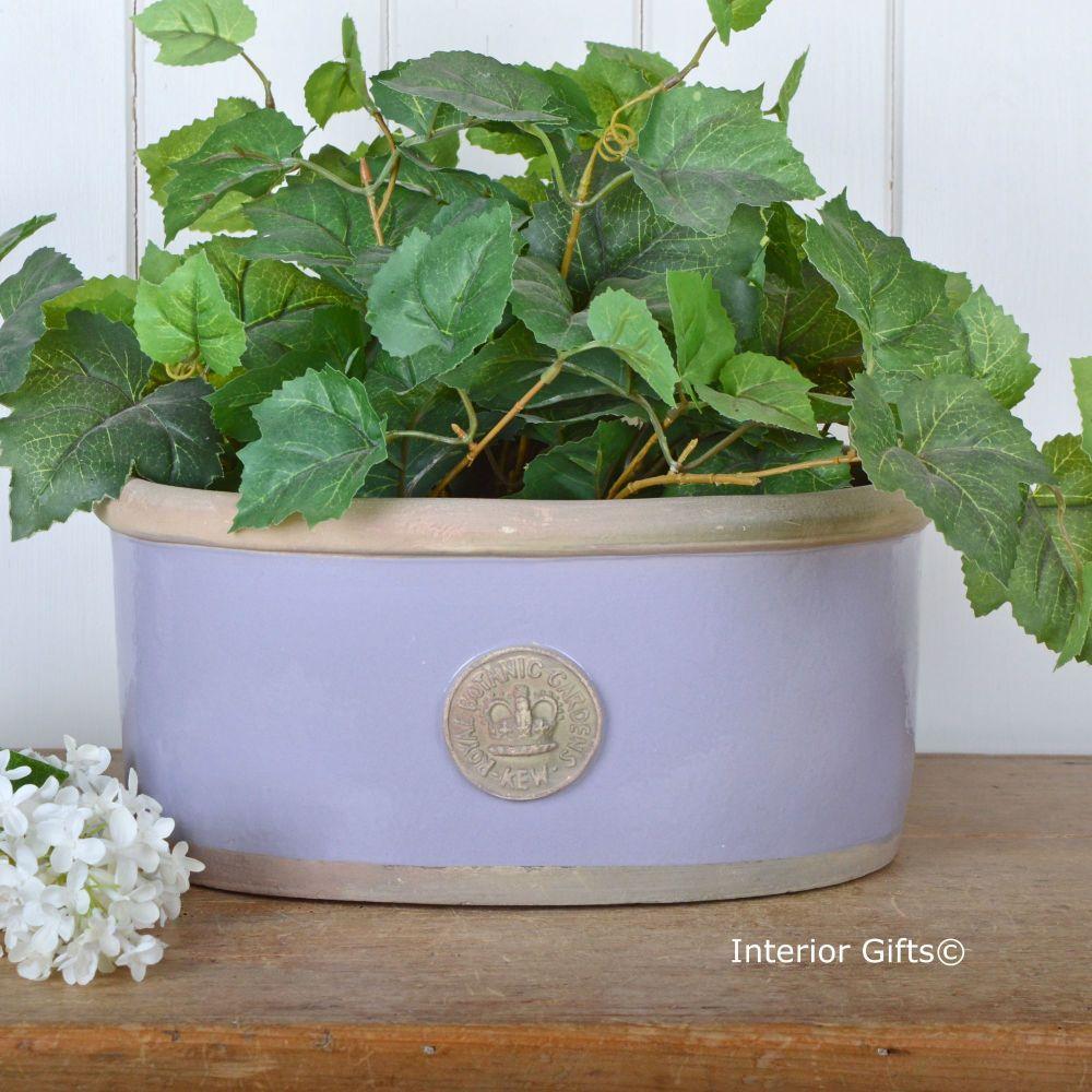 Kew Oval Planter in Brassica Purple - Royal Botanic Gardens Plant Pot - Med