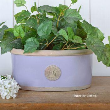 Kew Oval Planter in Brassica Purple - Royal Botanic Gardens Plant Pot - Medium