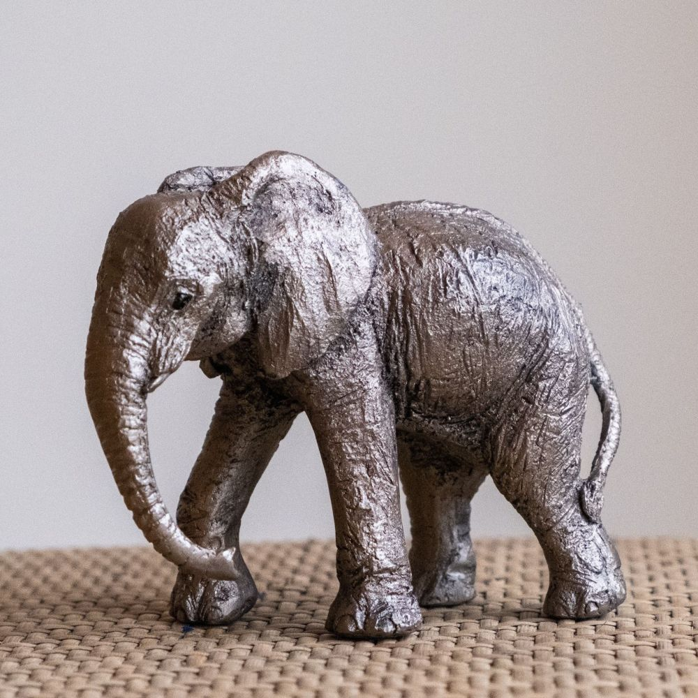 Elephant Calf Frith Bronze Sculpture by Juliet Collins
