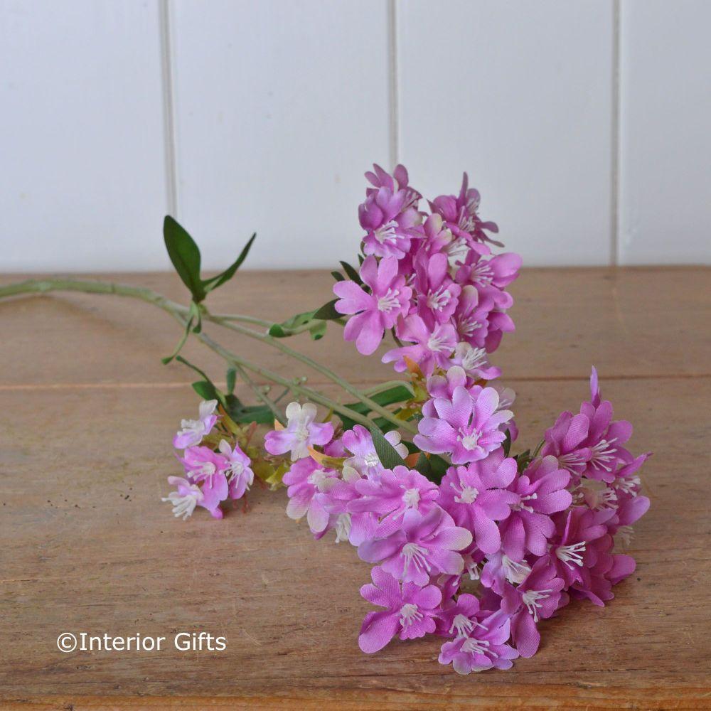 Faux Wildflower Stem Pink Spray 68 cm