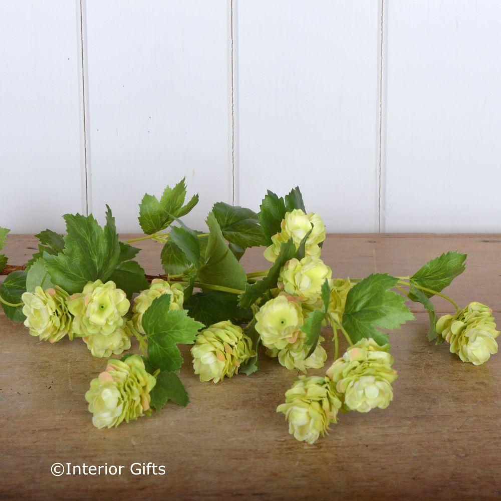 Faux Green Hops Spray 90 cm