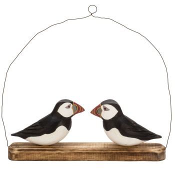 Archipelago Puffin Hanger Bird Wood Carving
