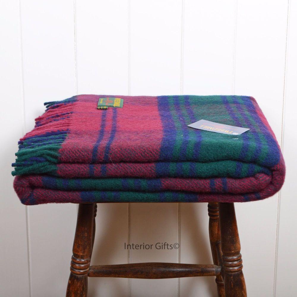 Tweedmill Lindsey Tartan Knee Rug or Small Blanket Pure New Wool