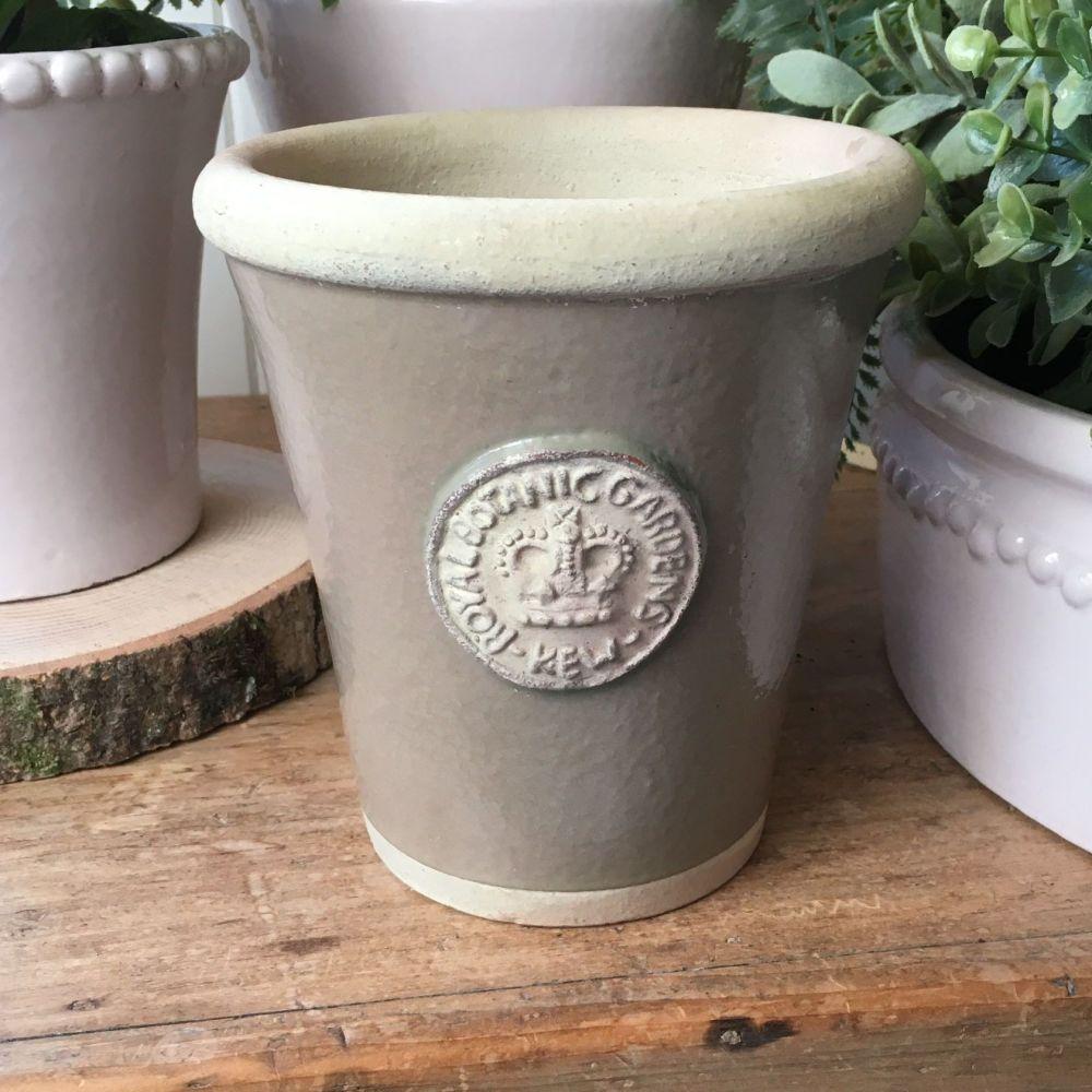 Kew Long Tom Pot in Dark Beige - Royal Botanic Gardens Plant Pot - Small