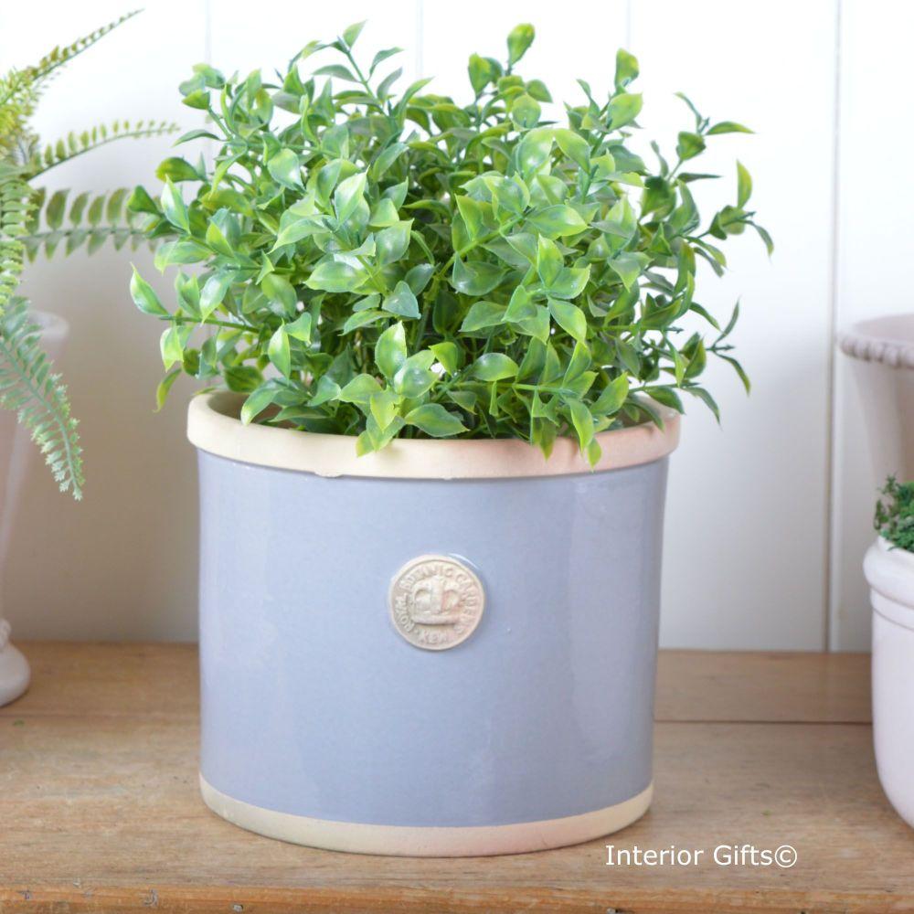 Kew Straight Edge Pot Plummet Blue/Grey - Royal Botanic Gardens Plant Pot -
