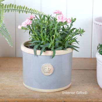 Kew Straight Edge Pot Plummet Blue / Grey - Royal Botanic Gardens Plant Pot - Medium