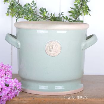 Kew Deep Planter with Handles Chartwell Green - Royal Botanic Gardens Plant Pot - 26.5 cm H