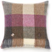 BRONTE by Moon Cushion - Harlequin Heather Check Shetland Wool