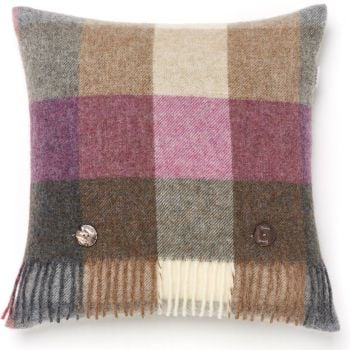 BRONTE by Moon Cushion - Harlequin Heather Check Shetland Wool