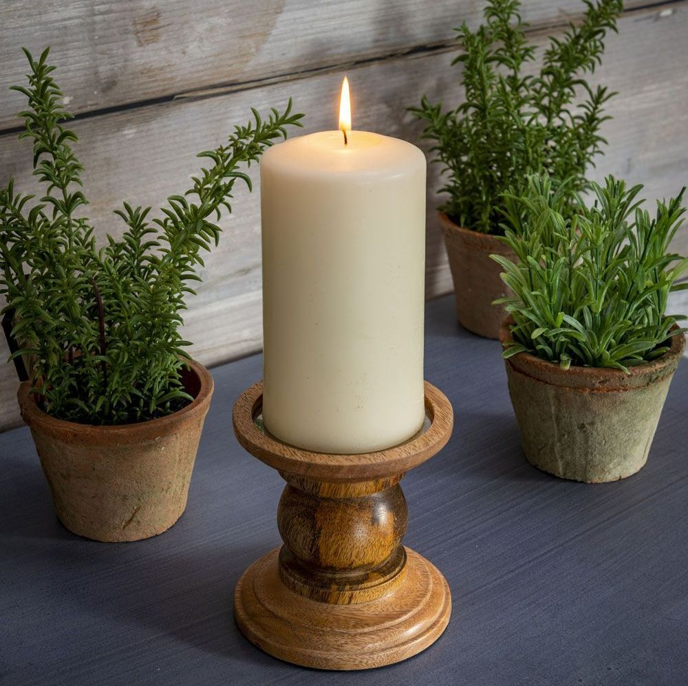 Wooden Candle Holder - Small