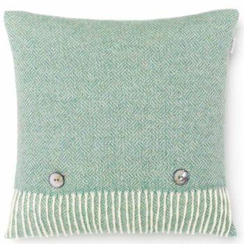 BRONTE by Moon Cushion - Parquet Eucalyptus Green Merino Lambswool