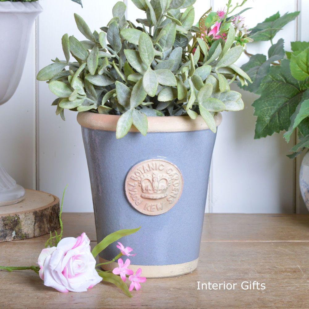 Kew Long Tom Pot in Manor Blue - Royal Botanic Gardens Plant Pot - Small