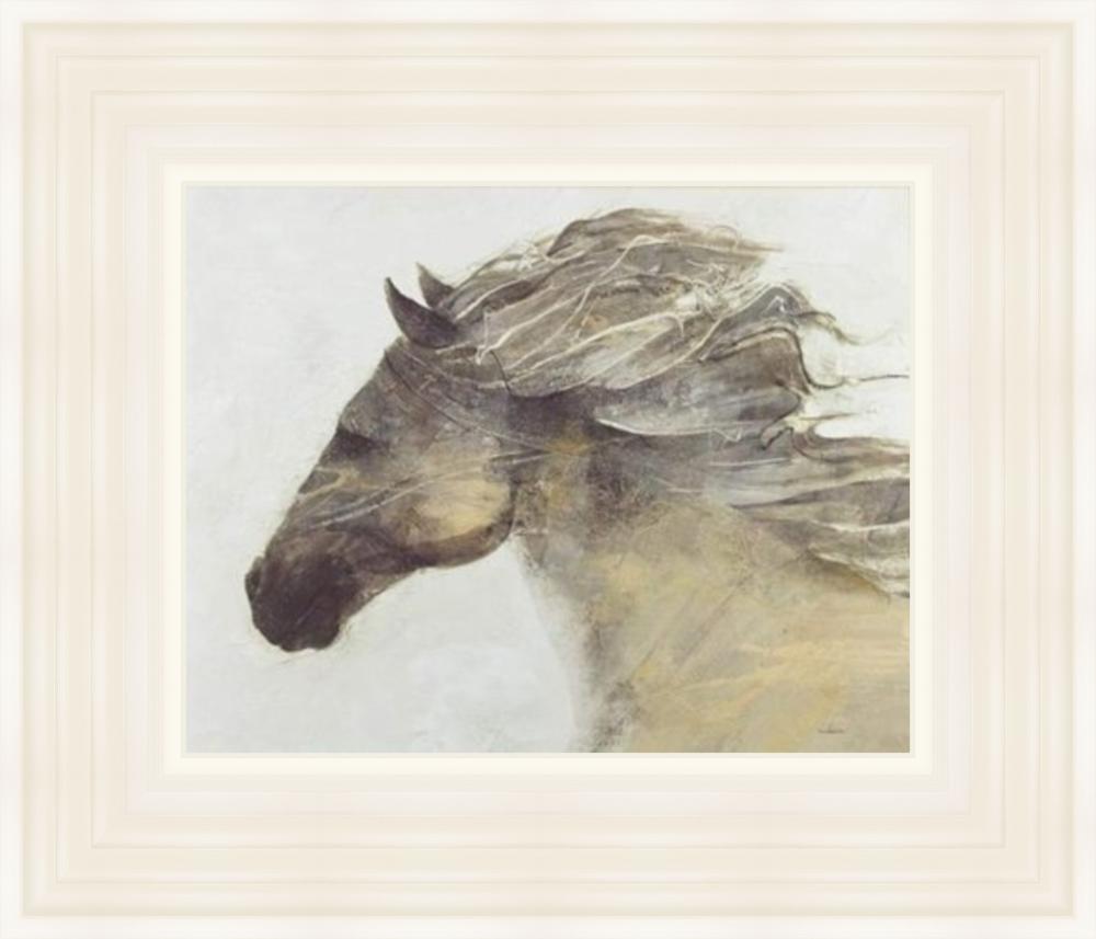 'Into the Wind' by Albena Hristova - 75x90cm Cream Frame