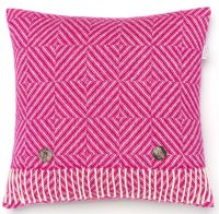 BRONTE by Moon Cushion - Pink Fuchsia Diamond Herringbone Lambswool