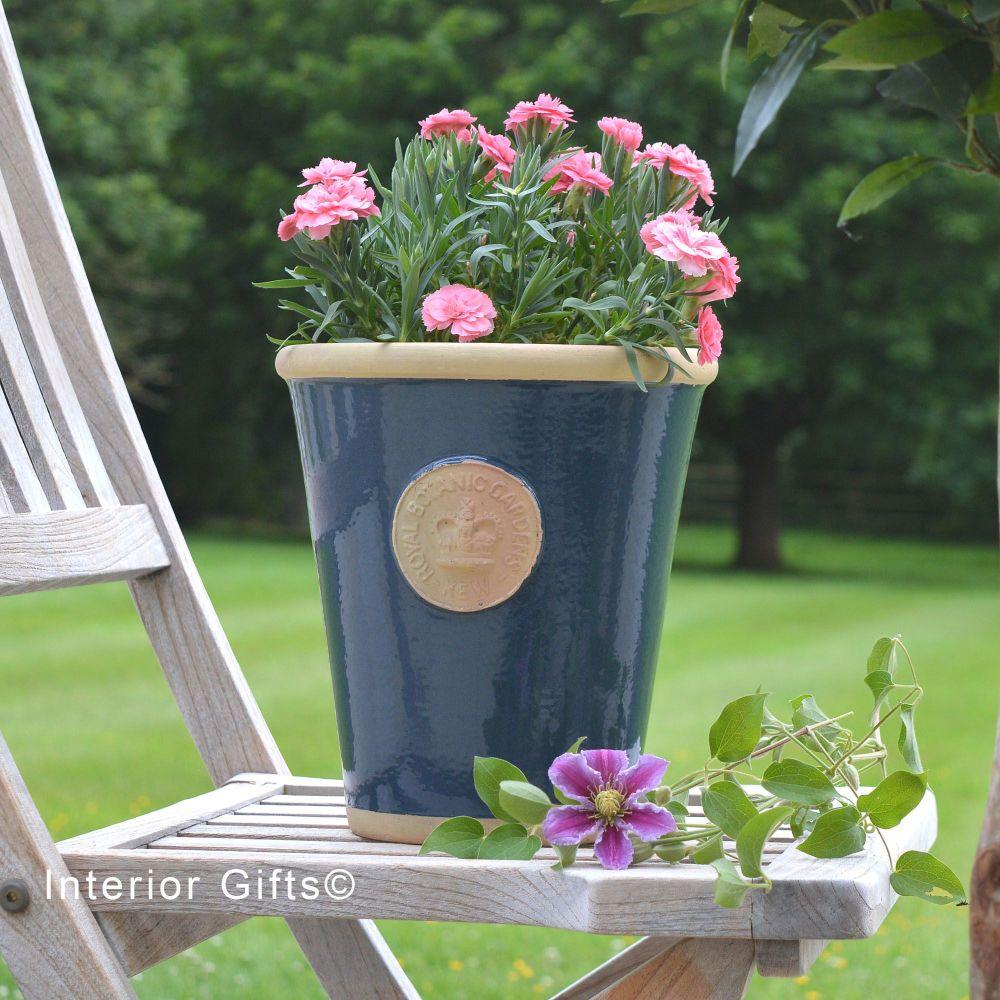 Kew Long Tom Pot in Stiffkey  Blue  *NEW*- Royal Botanic Gardens Plant Pot