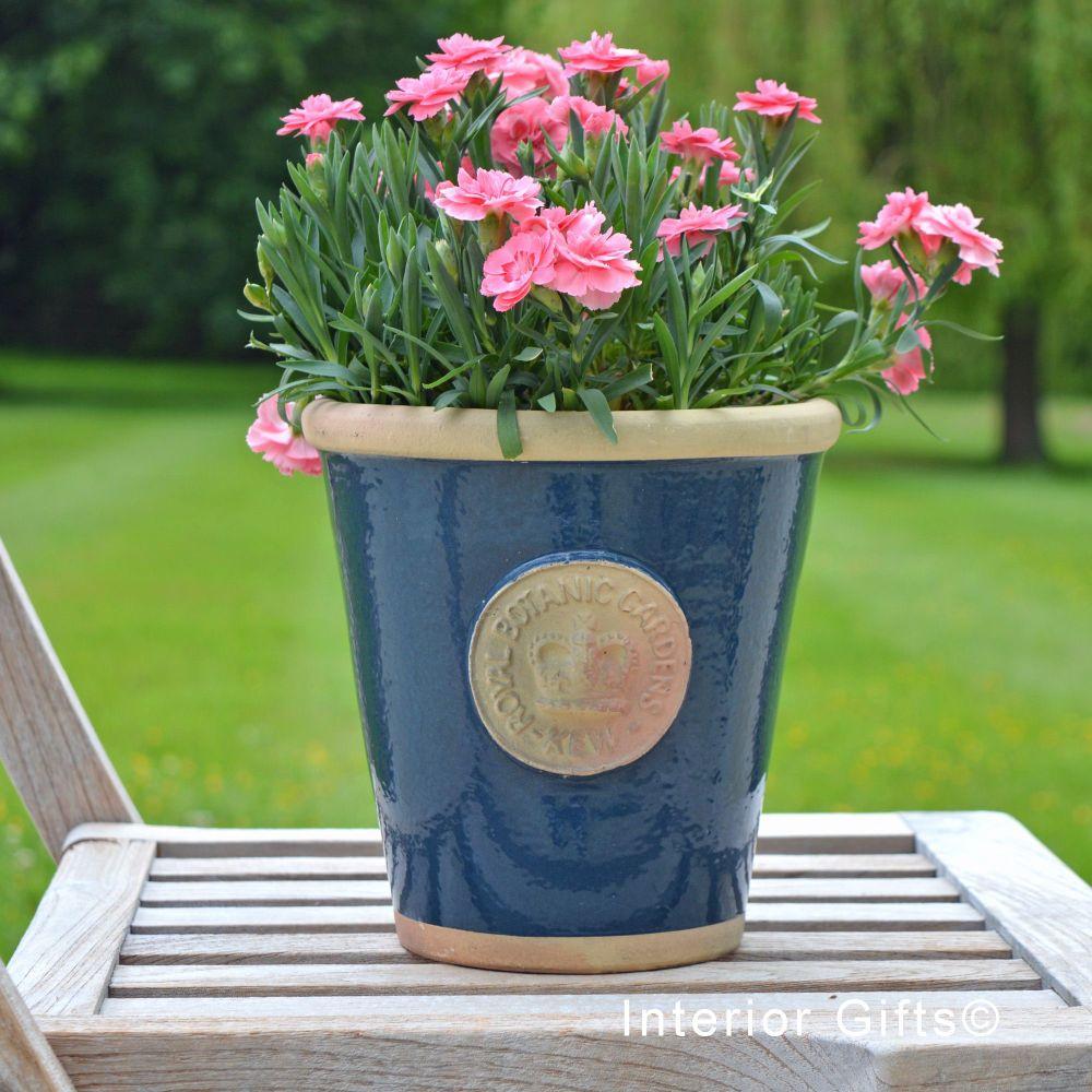 Kew Long Tom Pot in Stiffkey Blue  *NEW* - Royal Botanic Gardens Plant Pot