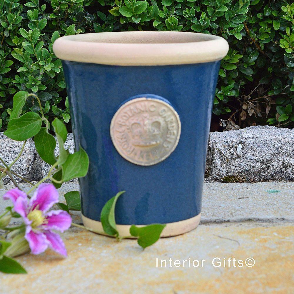 Kew Long Tom Pot in Stiffkey Blue *NEW* - Royal Botanic Gardens Plant Pot -