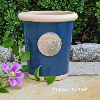 Kew Long Tom Pot in Stiffkey Blue *NEW* - Royal Botanic Gardens Plant Pot - Small