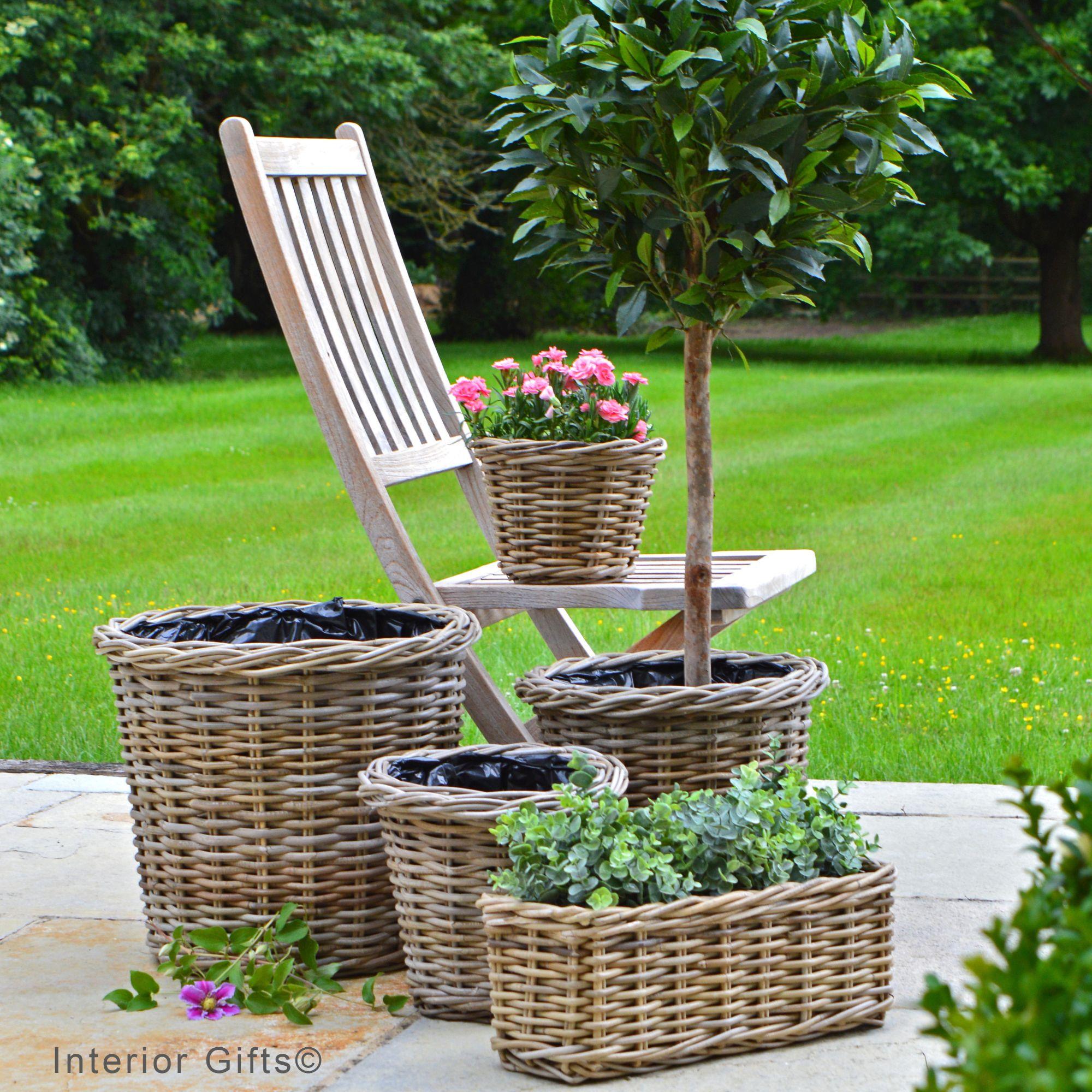 Rattan Plant Pots