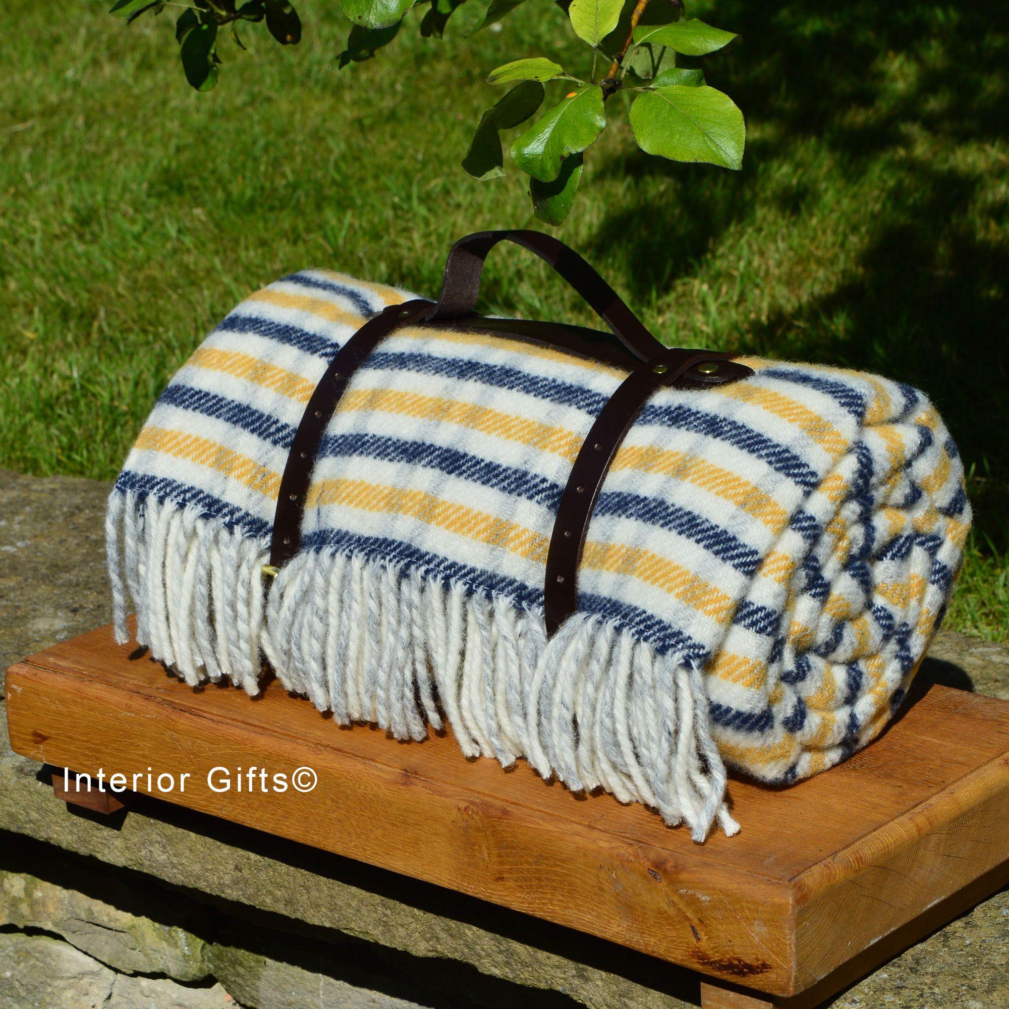 Herringbone Wool Picnic Rug