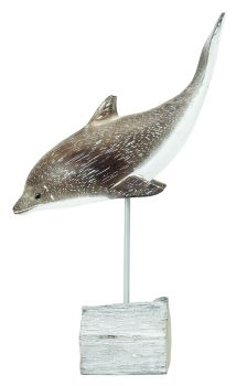Archipelago Dolphin Diving Wood Carving