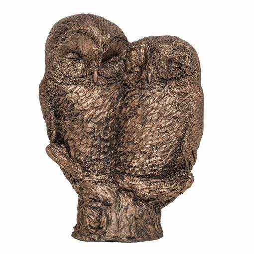 Buffy & Willow - Friendly Owls Frith Bronze Sculpture by Thomas Meadows