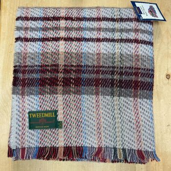 Woollen Recycled LARGE Throw / Blanket / Picnic Rug - Dark Lavender/Neutral