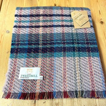 Woollen Recycled LARGE Throw / Blanket / Picnic Rug - Navy/Teal