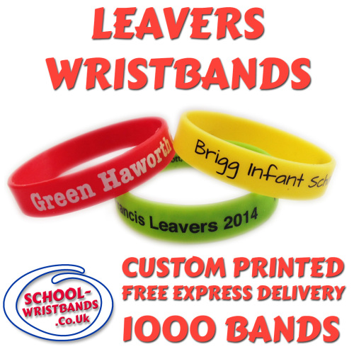 SCHOOL LEAVERS WRISTBANDS X 1000 pcs
