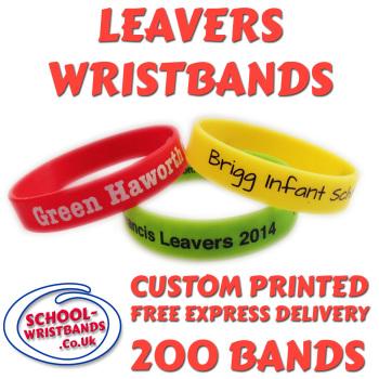SCHOOL LEAVERS WRISTBANDS X 200 pcs